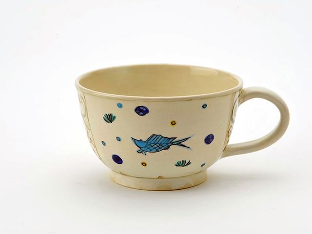 京焼・清水焼 抹茶ボウル 魚藻紋